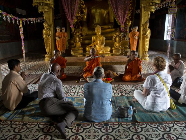 Monk Blessing, Cambodia